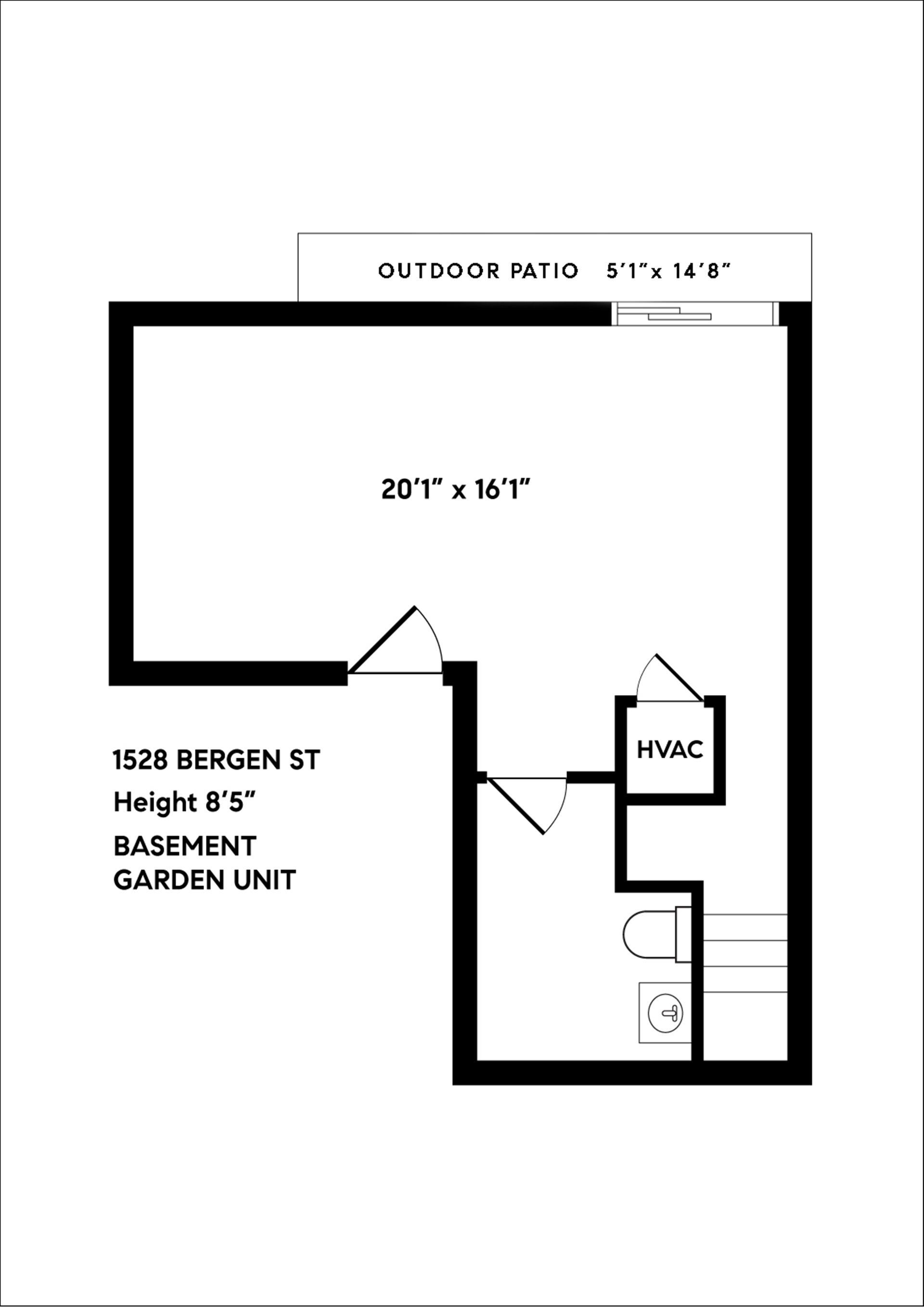1528 Bergen Street GARDEN Crown Heights Brooklyn NY 11213