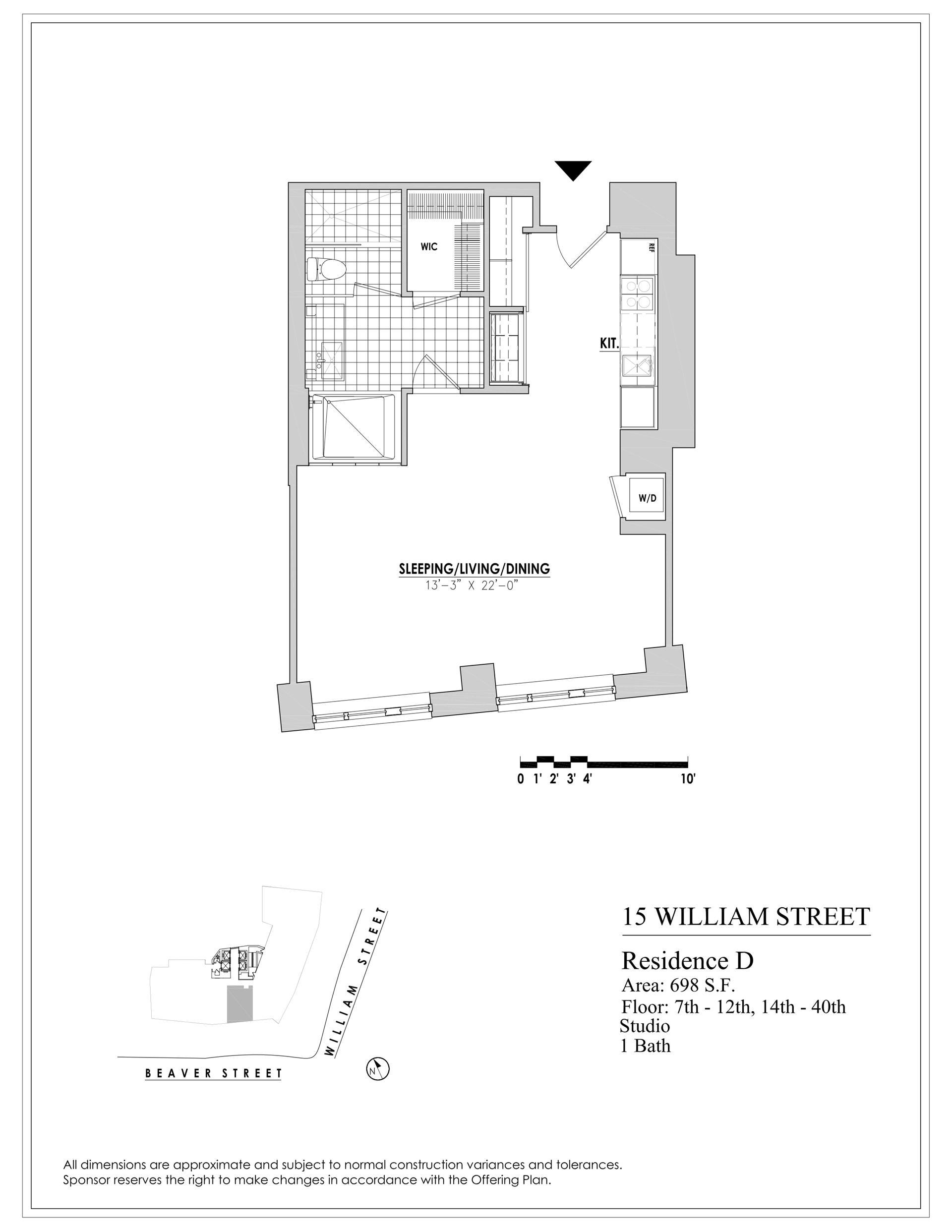 Floor plan of 15 William, 15 William St, 9D - Financial District, New York