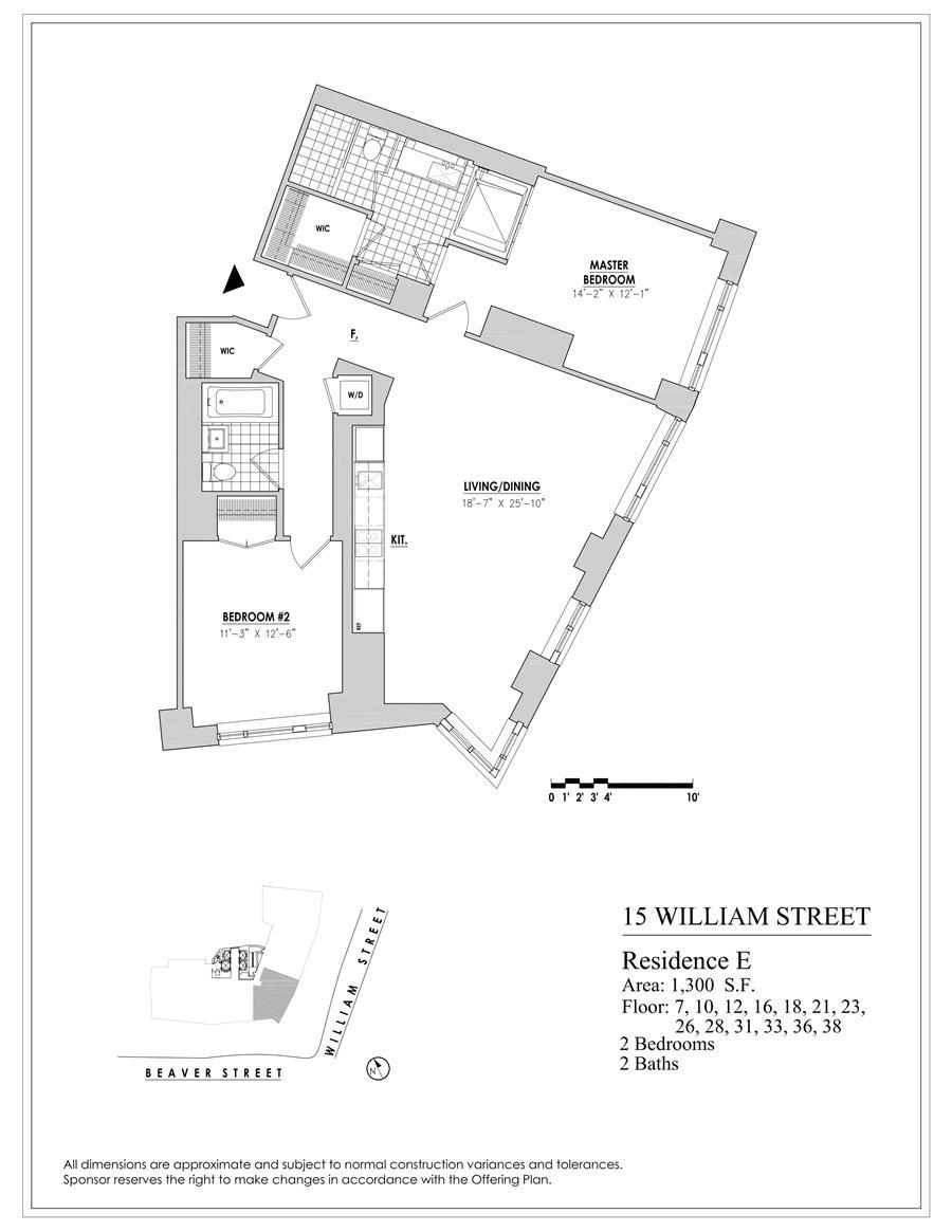 Floor plan of 15 William, 15 William Street, 35E - Financial District, New York