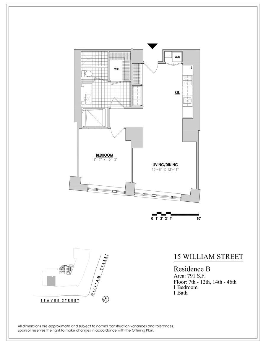 Floor plan of 15 William, 15 William Street, 25B - Financial District, New York
