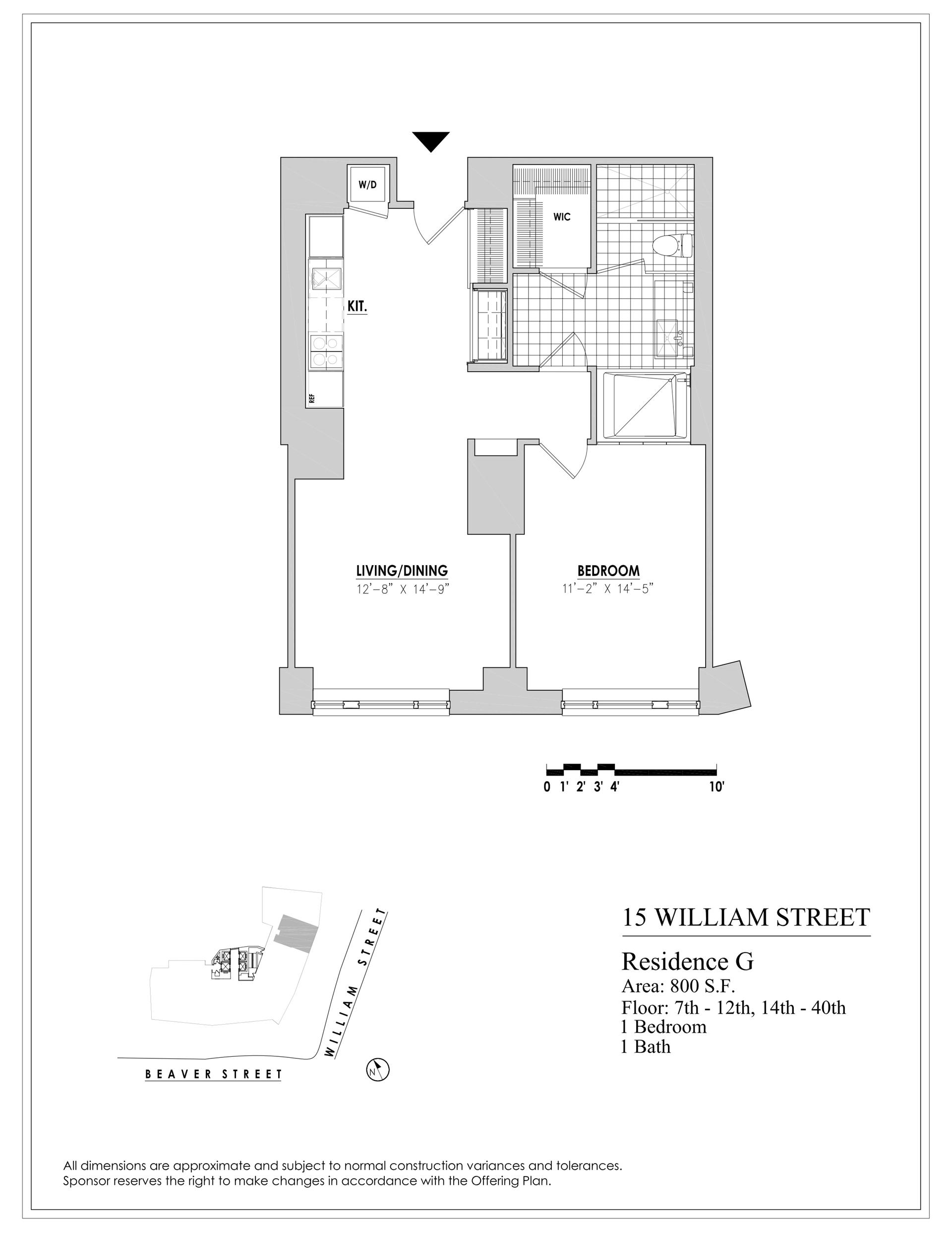 Floor plan of 15 William, 15 William St, 12G - Financial District, New York
