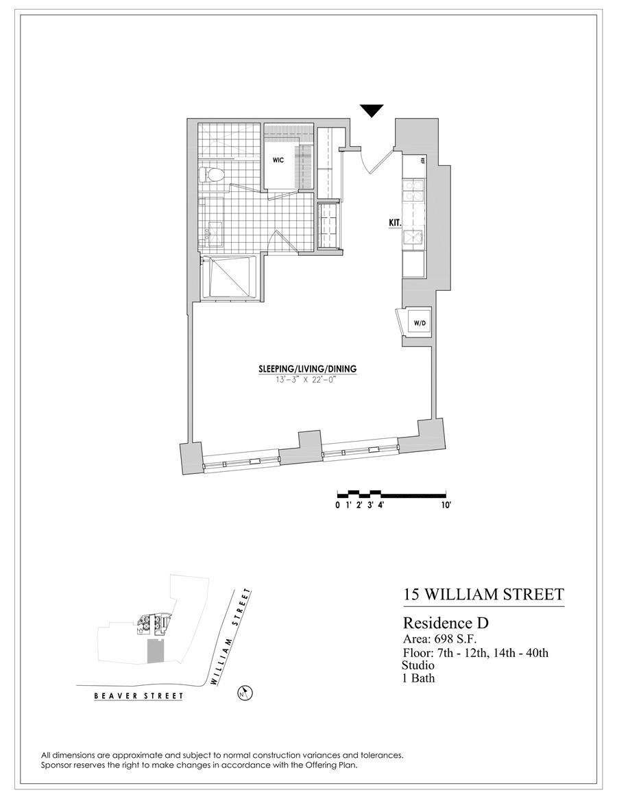 Floor plan of 15 William, 15 William Street, 28D - Financial District, New York