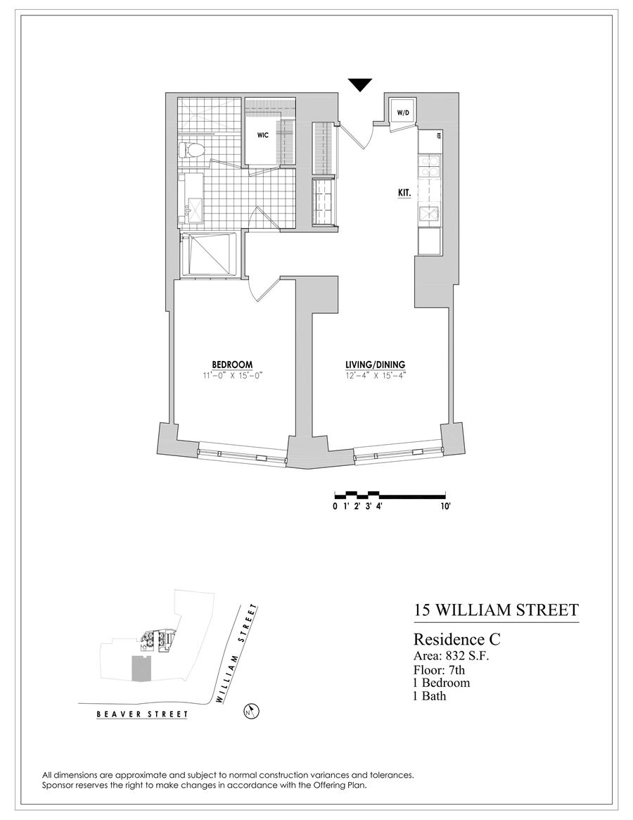 Floor plan of 15 William, 15 William Street, 29C - Financial District, New York