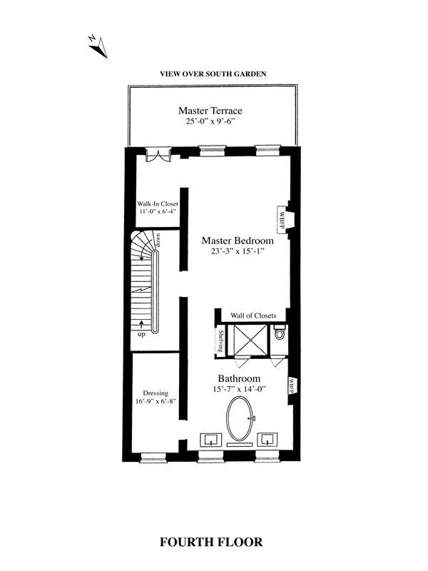 Floor plan of 20 East 10th Street - Greenwich Village, New York