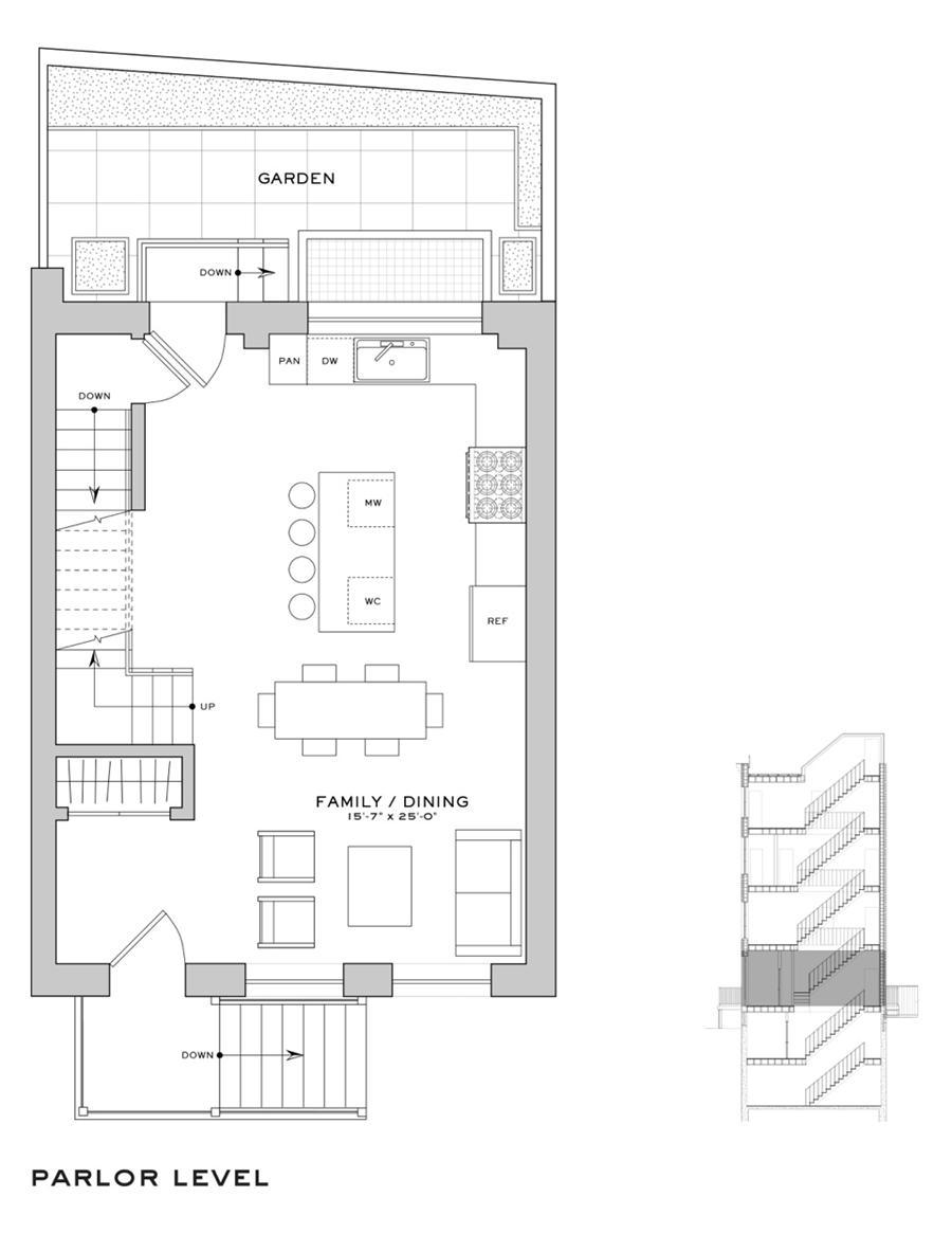 Floor plan of 110 Congress Street - Cobble Hill, New York