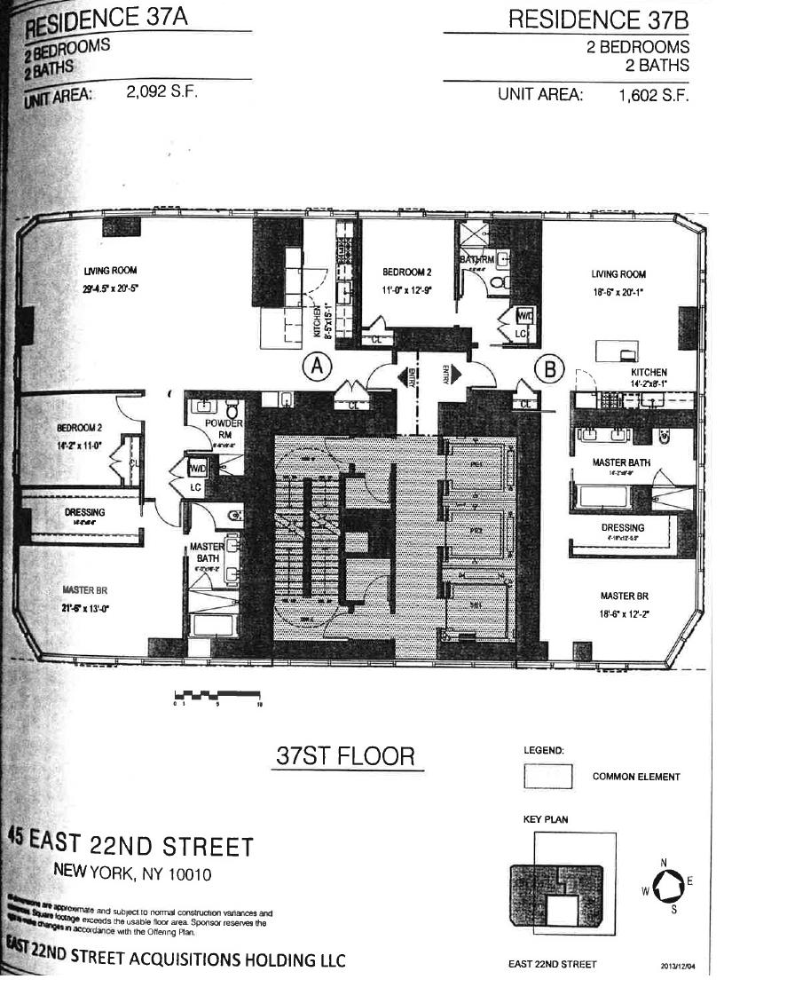 Floor plan of Madison Square Park Tower, 45 East 22nd St, 37A - Flatiron District, New York