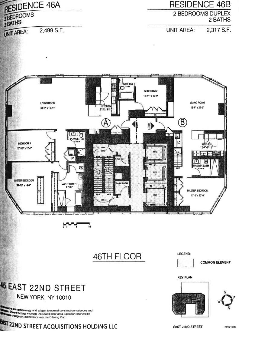 Floor plan of Madison Square Park Tower, 45 East 22nd St, 46B - Flatiron District, New York