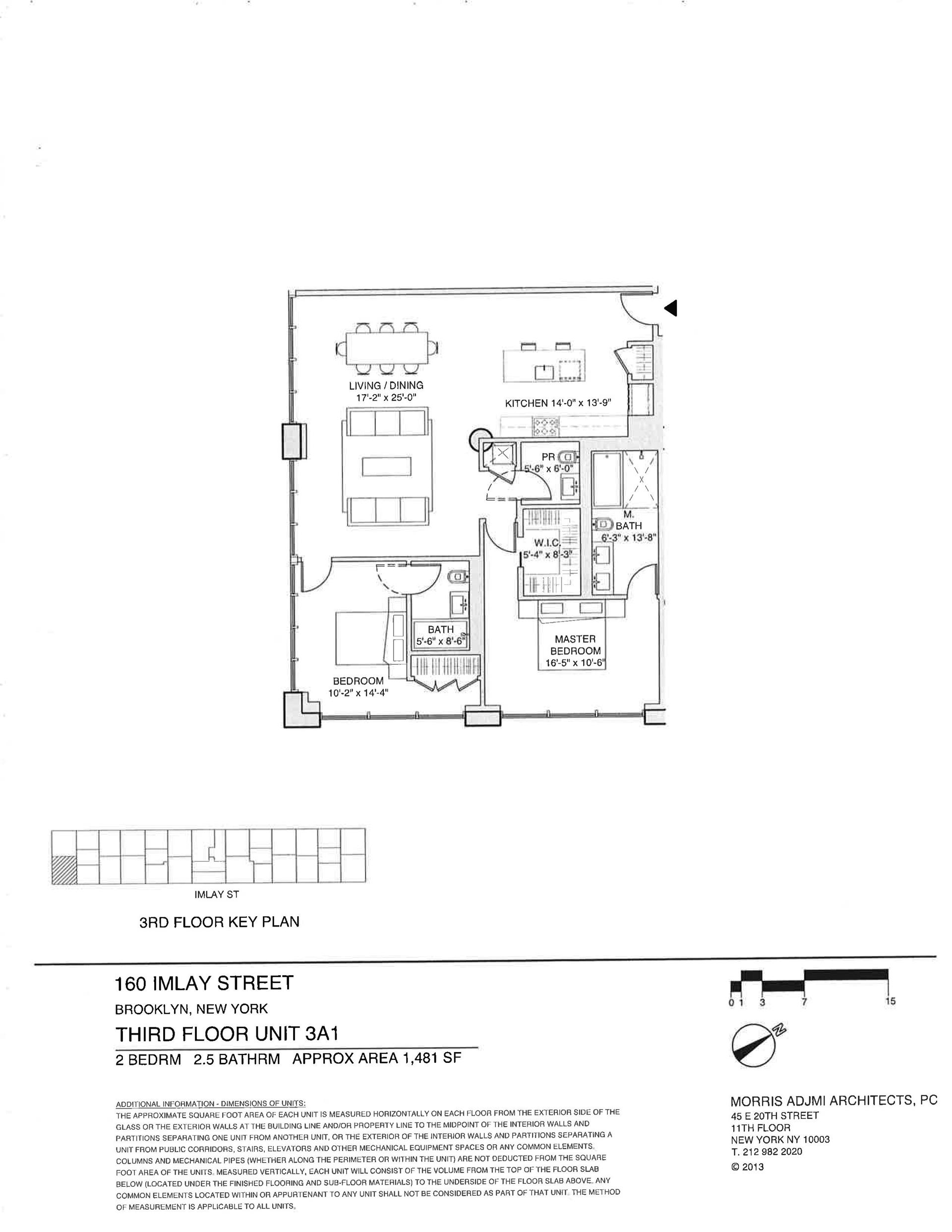 Floor plan of The New York Dock Building, 160 Imlay St, 3A1 - Red Hook, New York