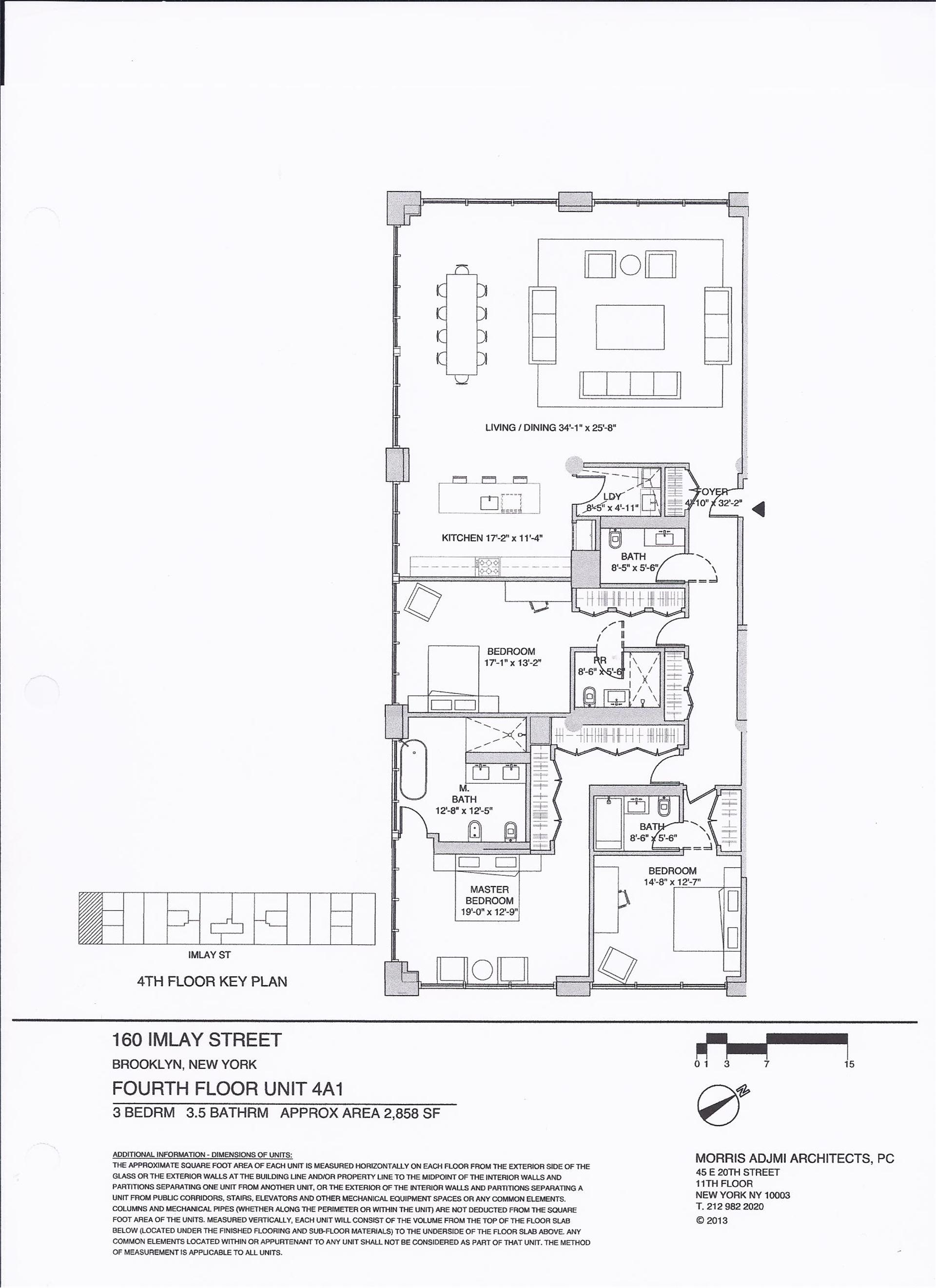 Floor plan of The New York Dock Building, 160 Imlay St, 4A1 - Red Hook, New York