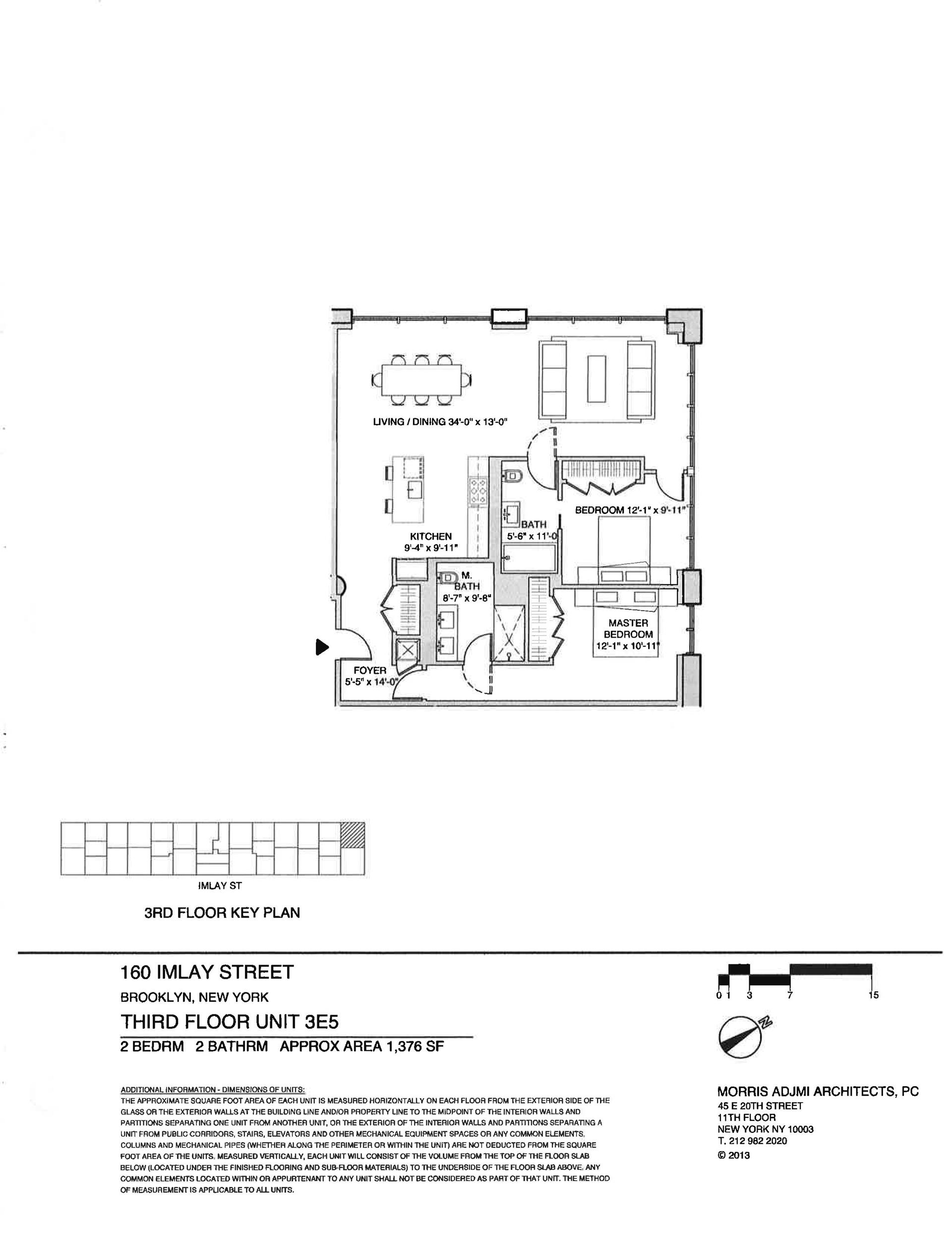 Floor plan of The New York Dock Building, 160 Imlay St, 3E5 - Red Hook, New York