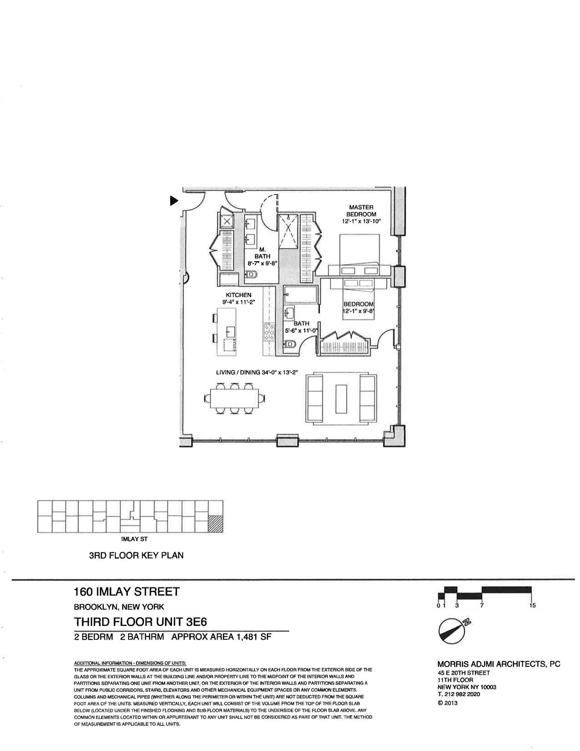 Floor plan of The New York Dock Building, 160 Imlay St, 3E6 - Red Hook, New York