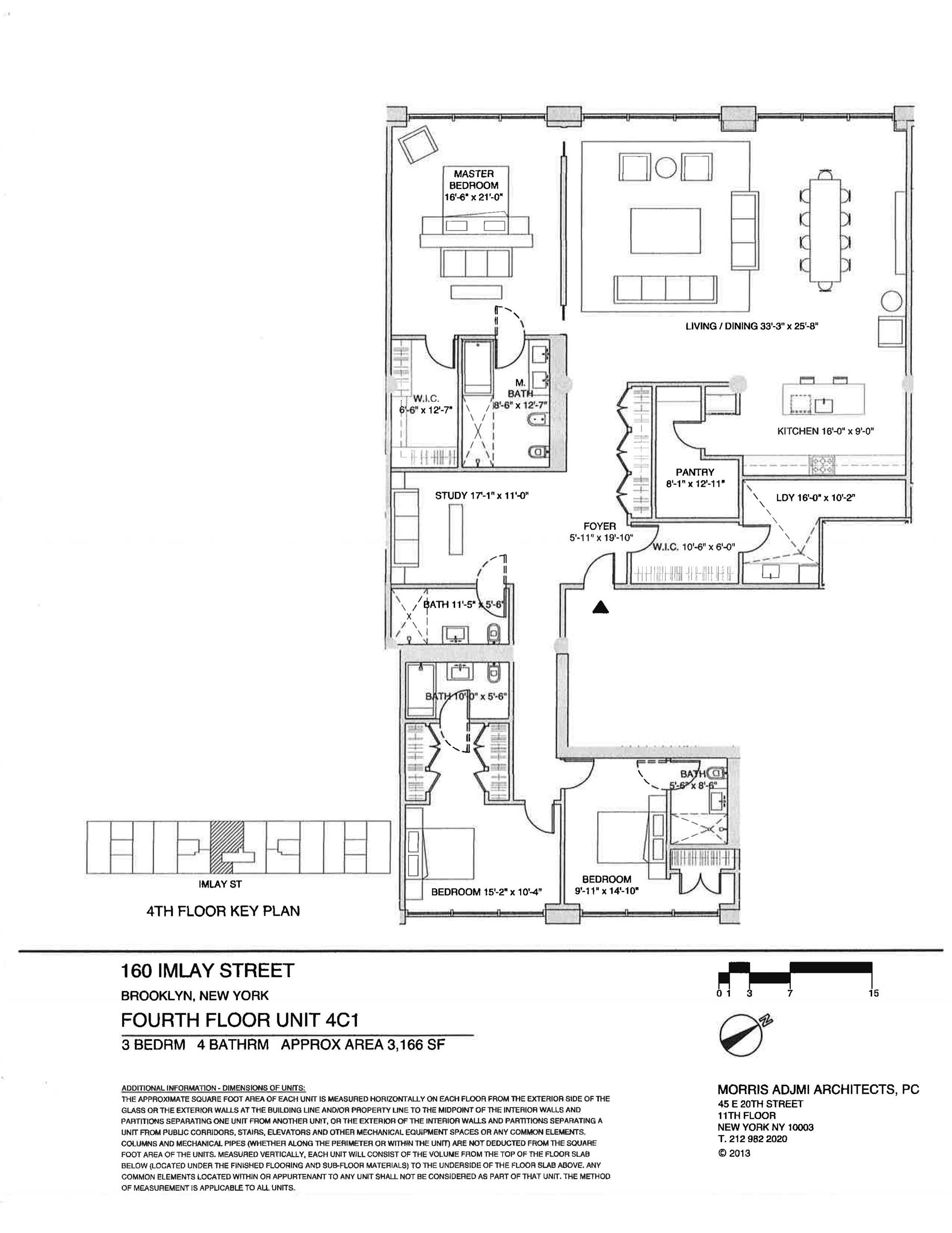 Floor plan of The New York Dock Building, 160 Imlay St, 4C1 - Red Hook, New York