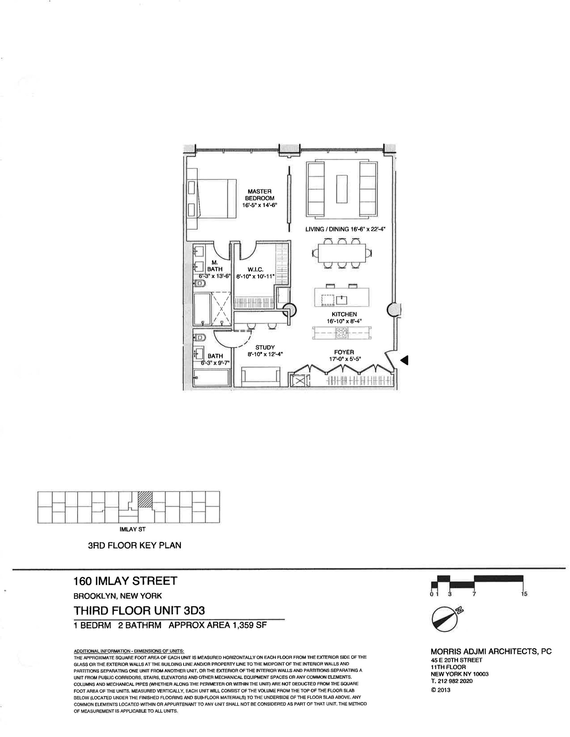 Floor plan of The New York Dock Building, 160 Imlay St, 3D3 - Red Hook, New York