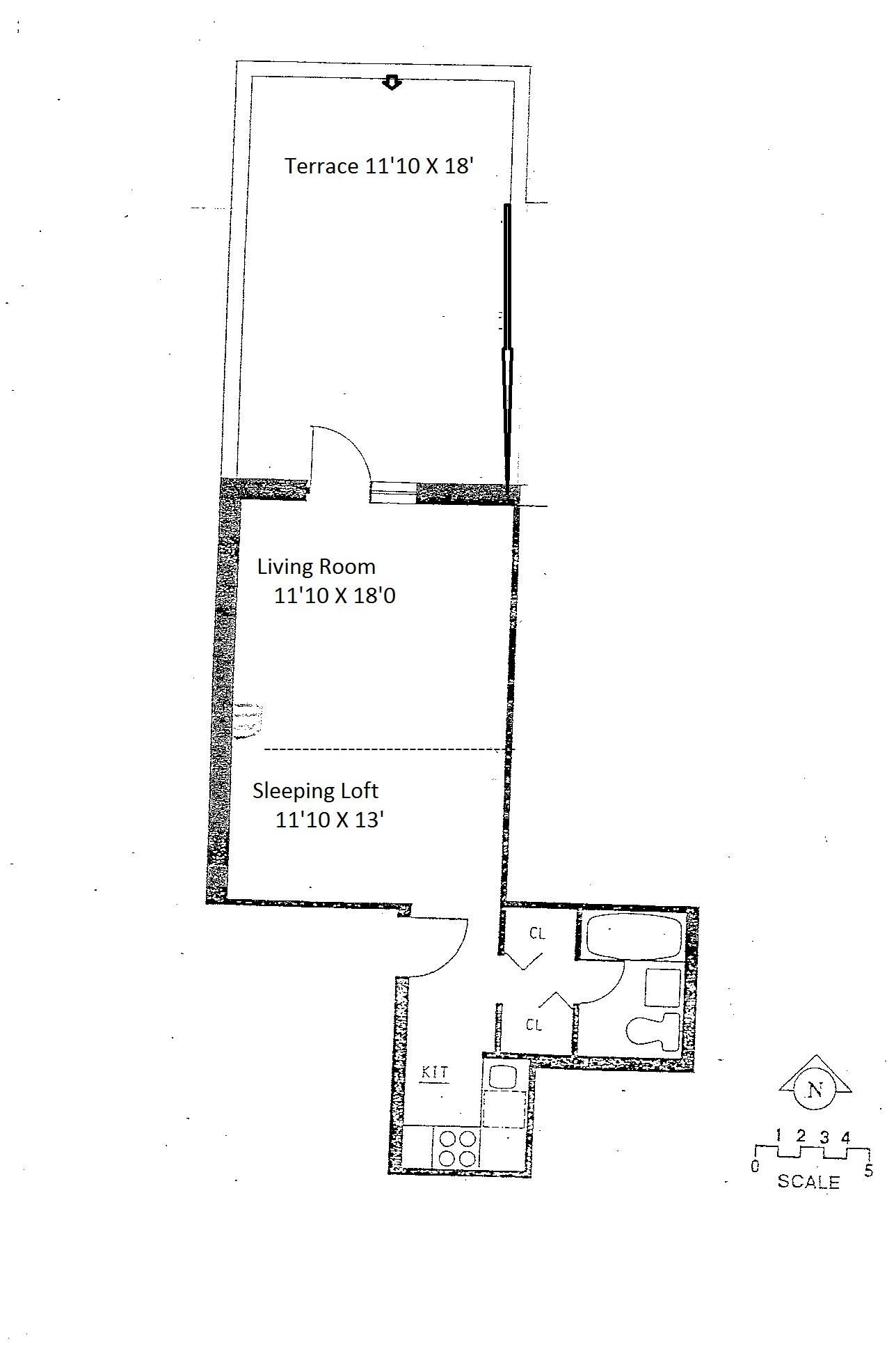 Floor plan of 221 West 14th Street, 1C