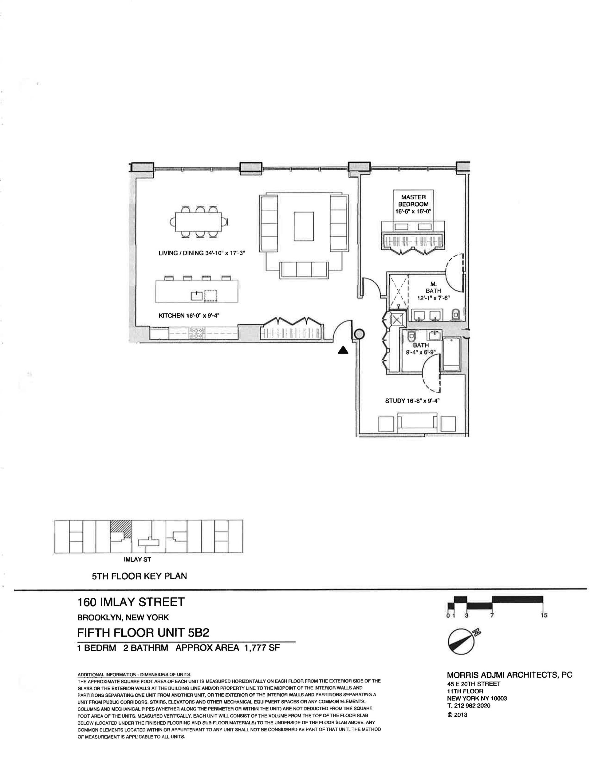 Floor plan of The New York Dock Building, 160 Imlay St, 5B2 - Red Hook, New York