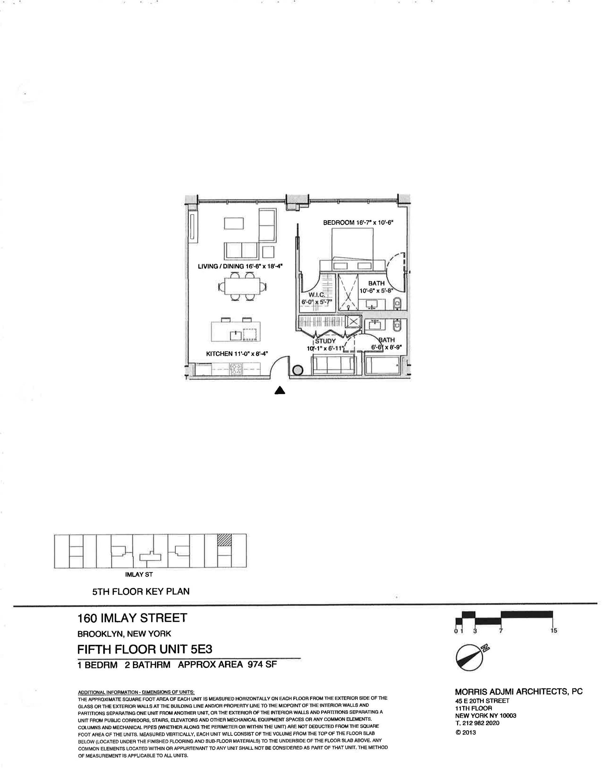 Floor plan of The New York Dock Building, 160 Imlay Street, 5E3 - Red Hook, New York