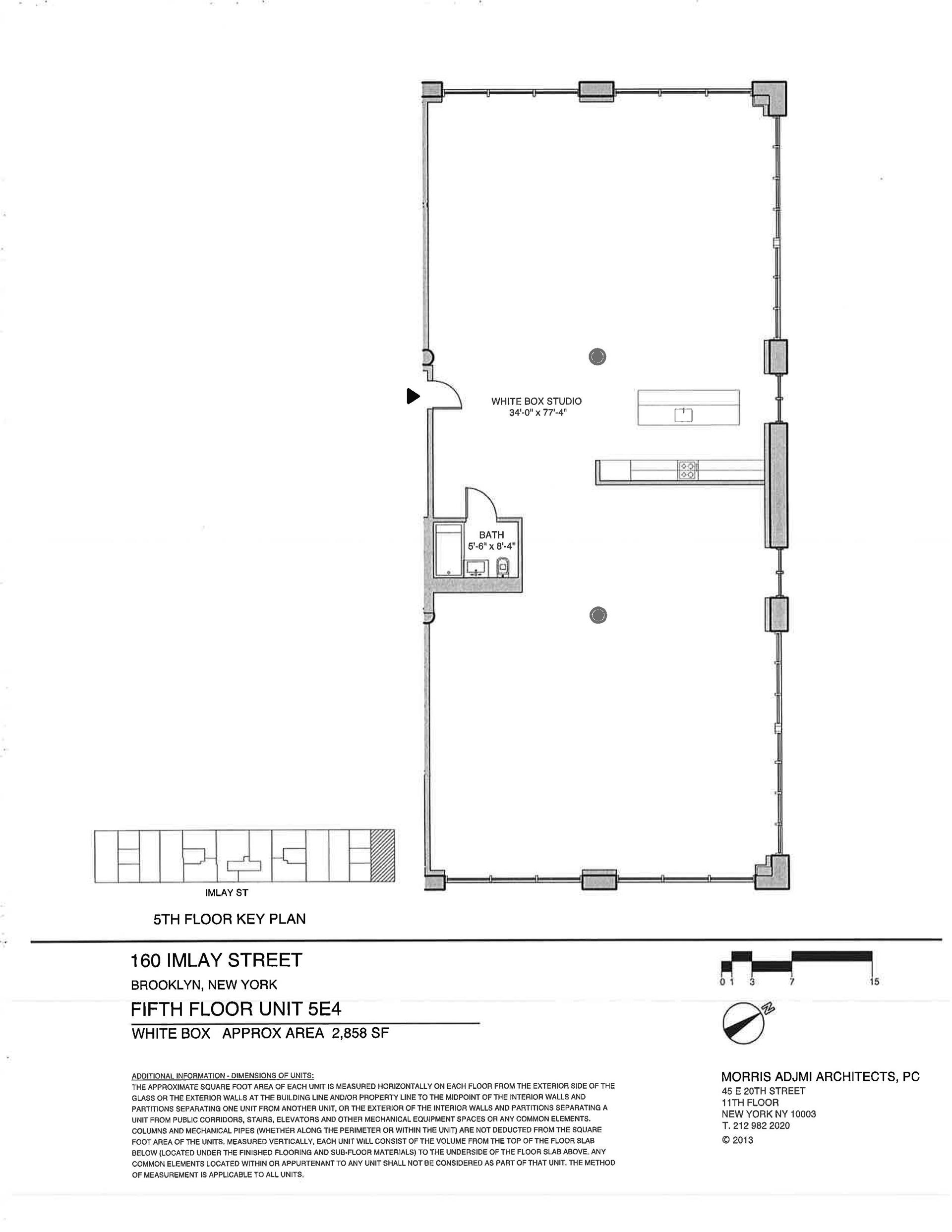 Floor plan of The New York Dock Building, 160 Imlay St, 5E4 - Red Hook, New York
