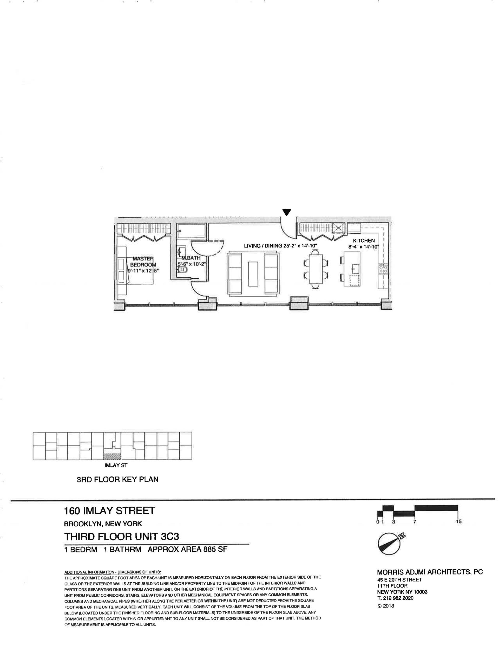 Floor plan of The New York Dock Building, 160 Imlay St, 3C3 - Red Hook, New York
