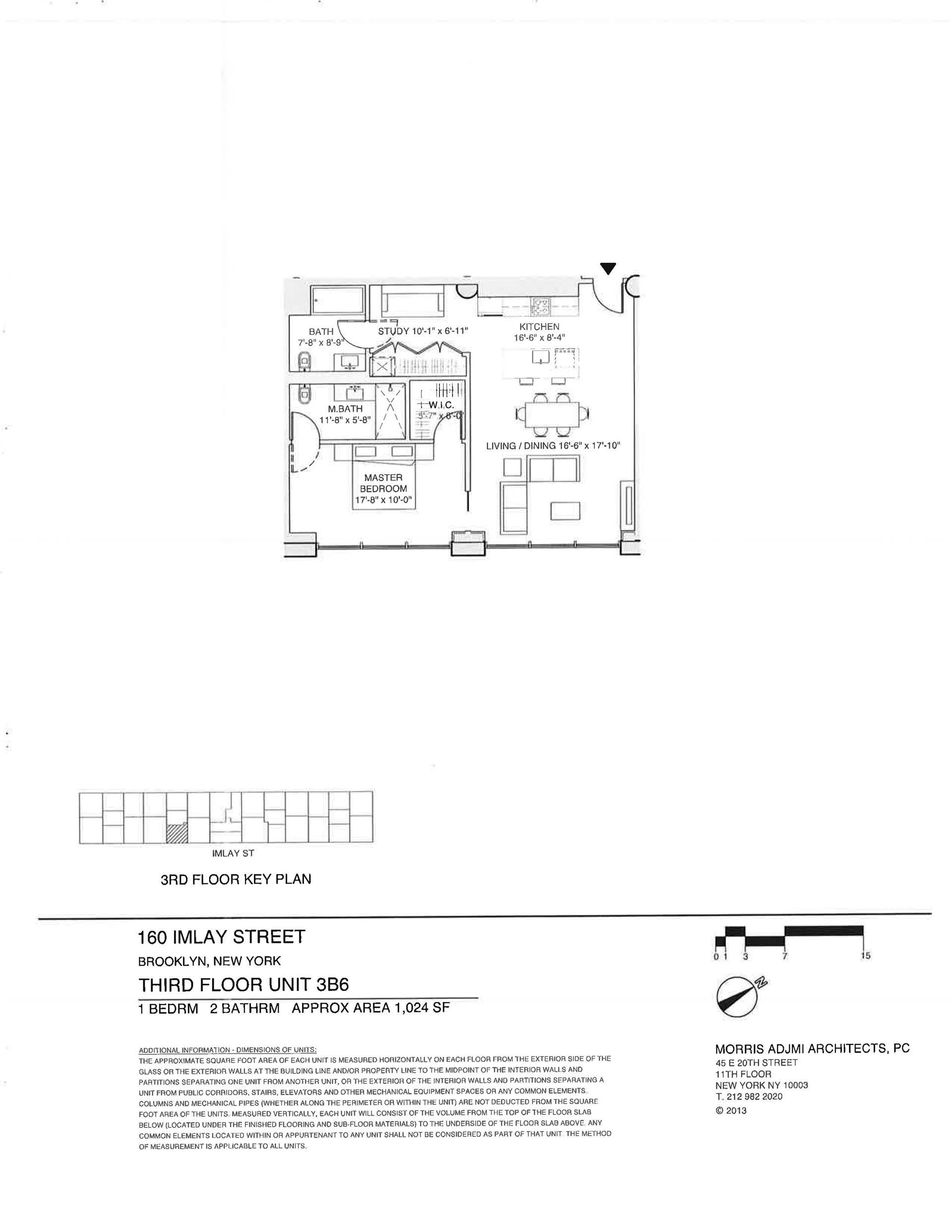 Floor plan of The New York Dock Building, 160 Imlay St, 3B6 - Red Hook, New York
