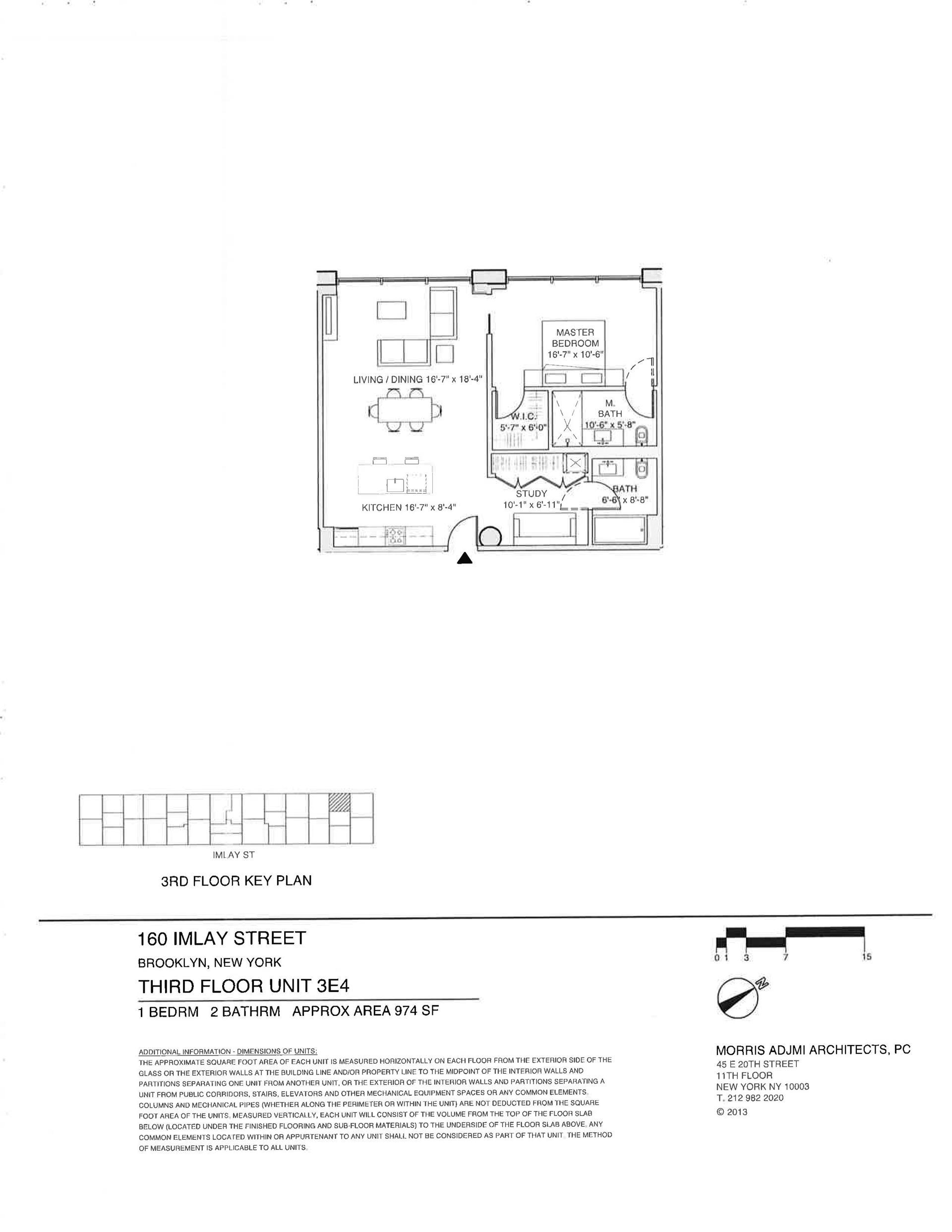 Floor plan of The New York Dock Building, 160 Imlay St, 3E4 - Red Hook, New York