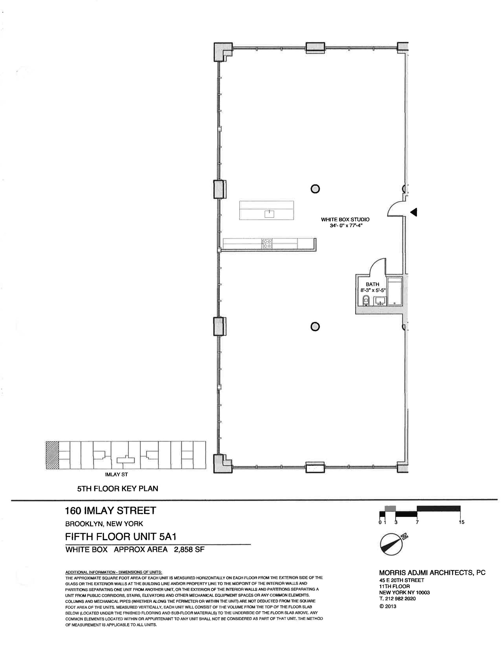 Floor plan of The New York Dock Building, 160 Imlay St, 5A1 - Red Hook, New York