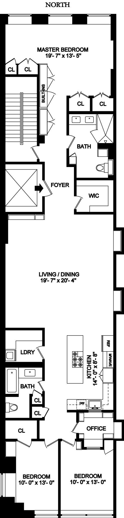 Floor plan of 42 West 15th Street, 3FL - Flatiron District, New York