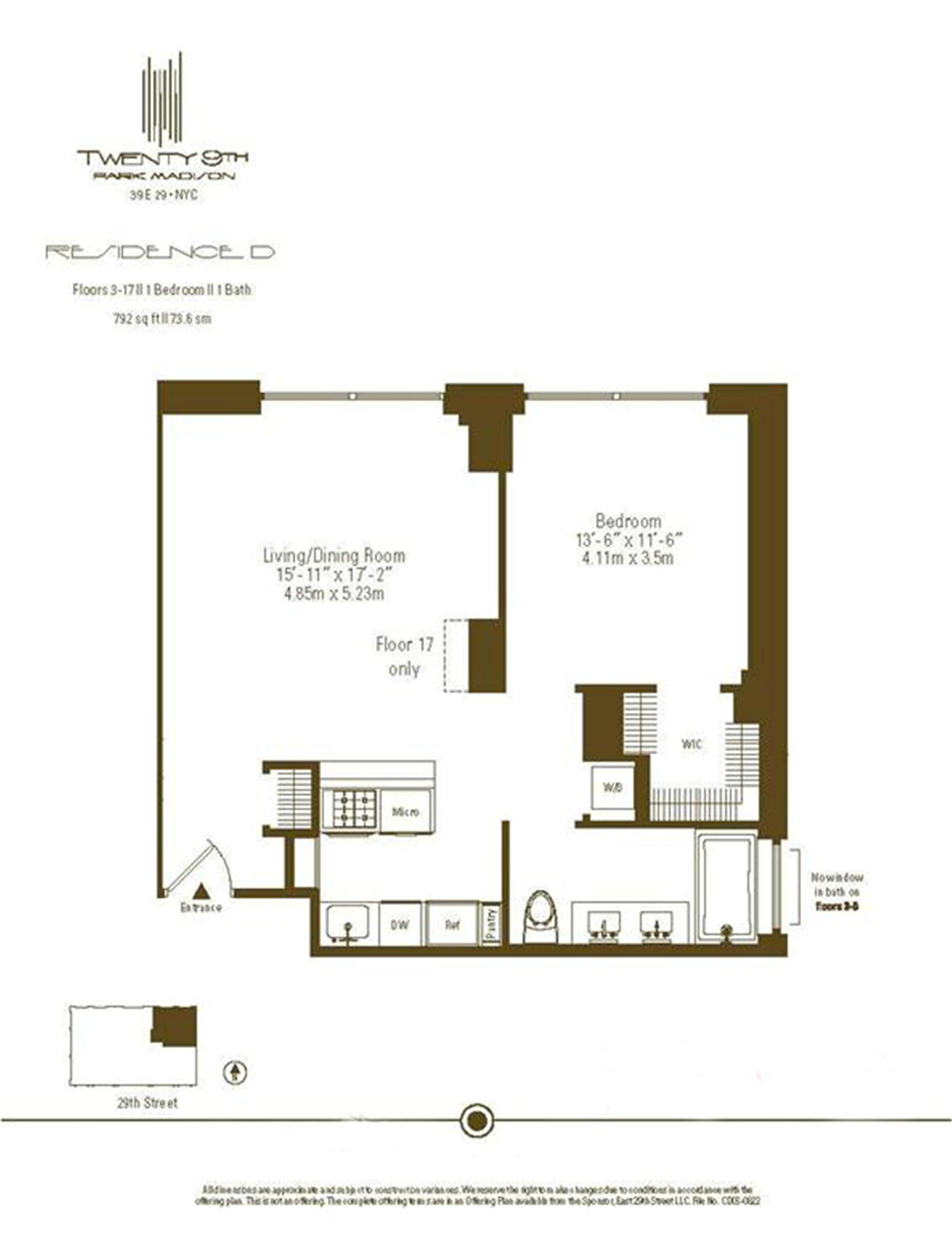 Floor plan of Twenty9th Park Madison, 39 East 29th St, 3D - Flatiron District, New York