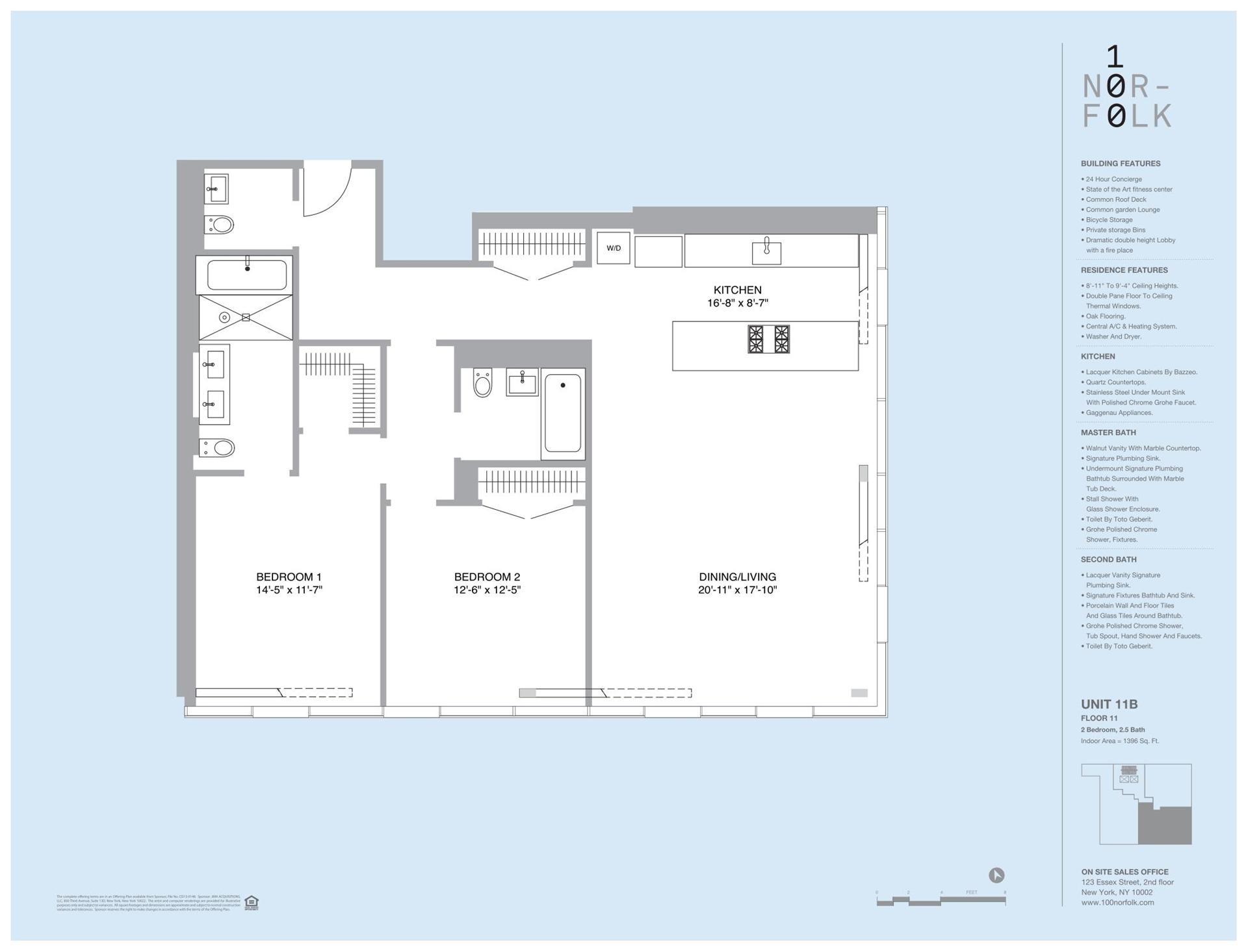 Floor plan of 100 Norfolk St, 11B - Lower East Side, New York