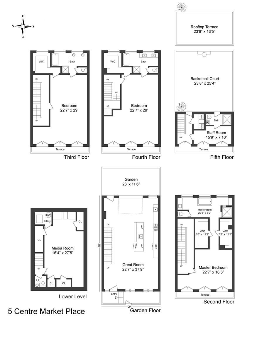 Floor plan of 5 Centre Market Pl - Little Italy - Chinatown, New York