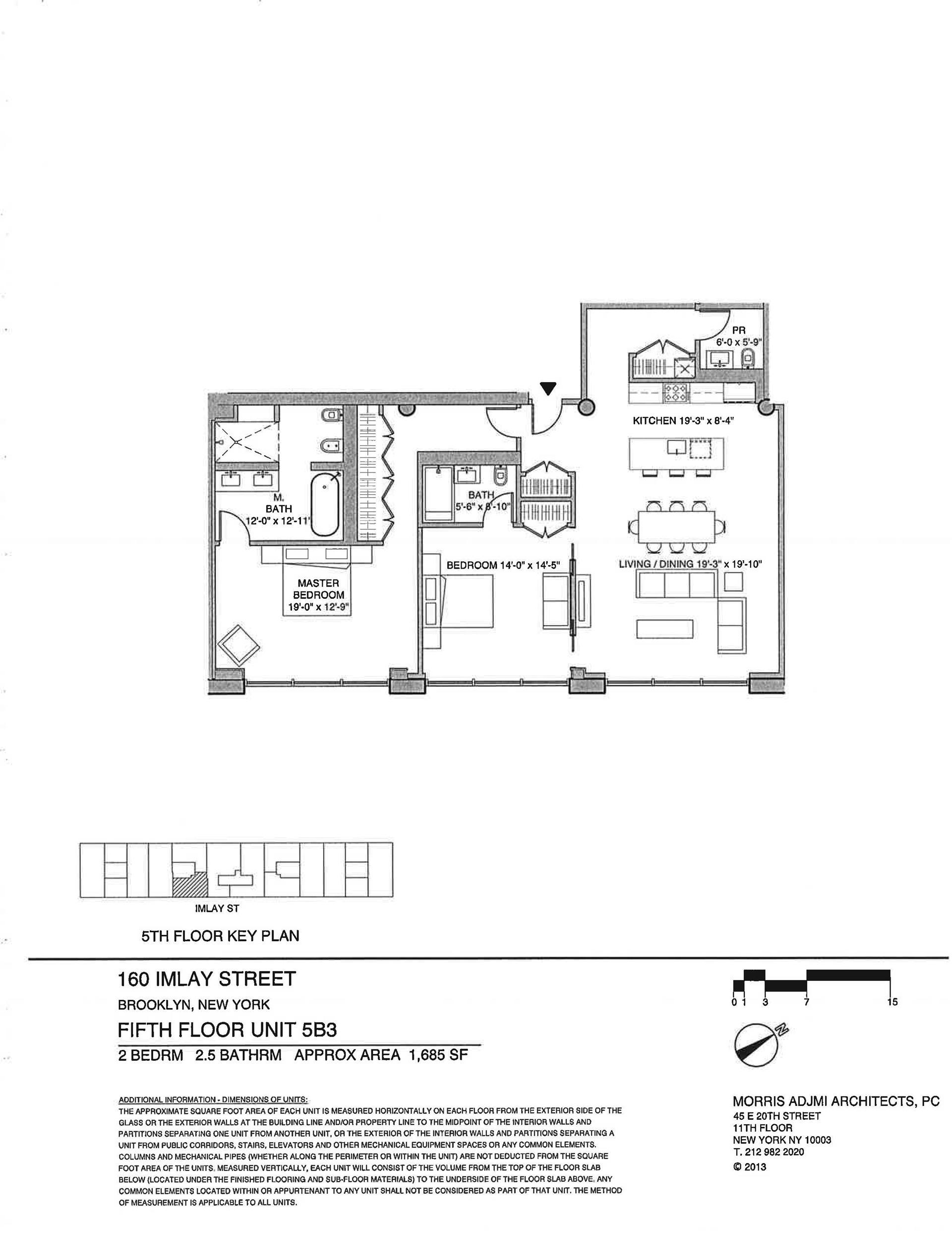 Floor plan of The New York Dock Building, 160 Imlay St, 5B3 - Red Hook, New York