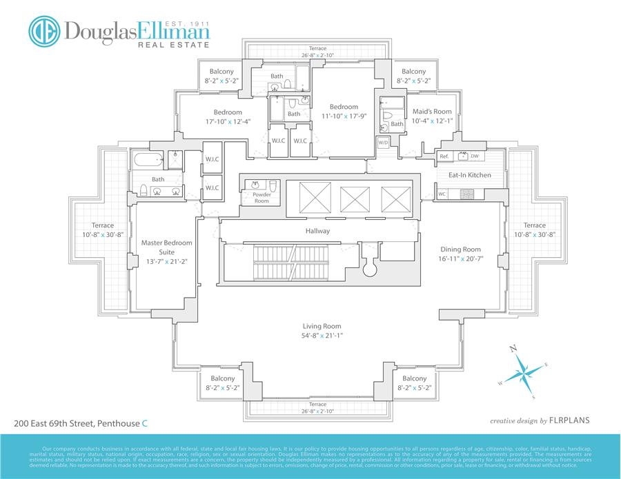 Floor plan of 200 East 69th Street, PHC - Upper East Side, New York