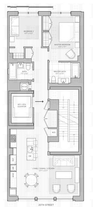 Floor plan of 21W20, 21 West 20th St, 4 - Flatiron District, New York