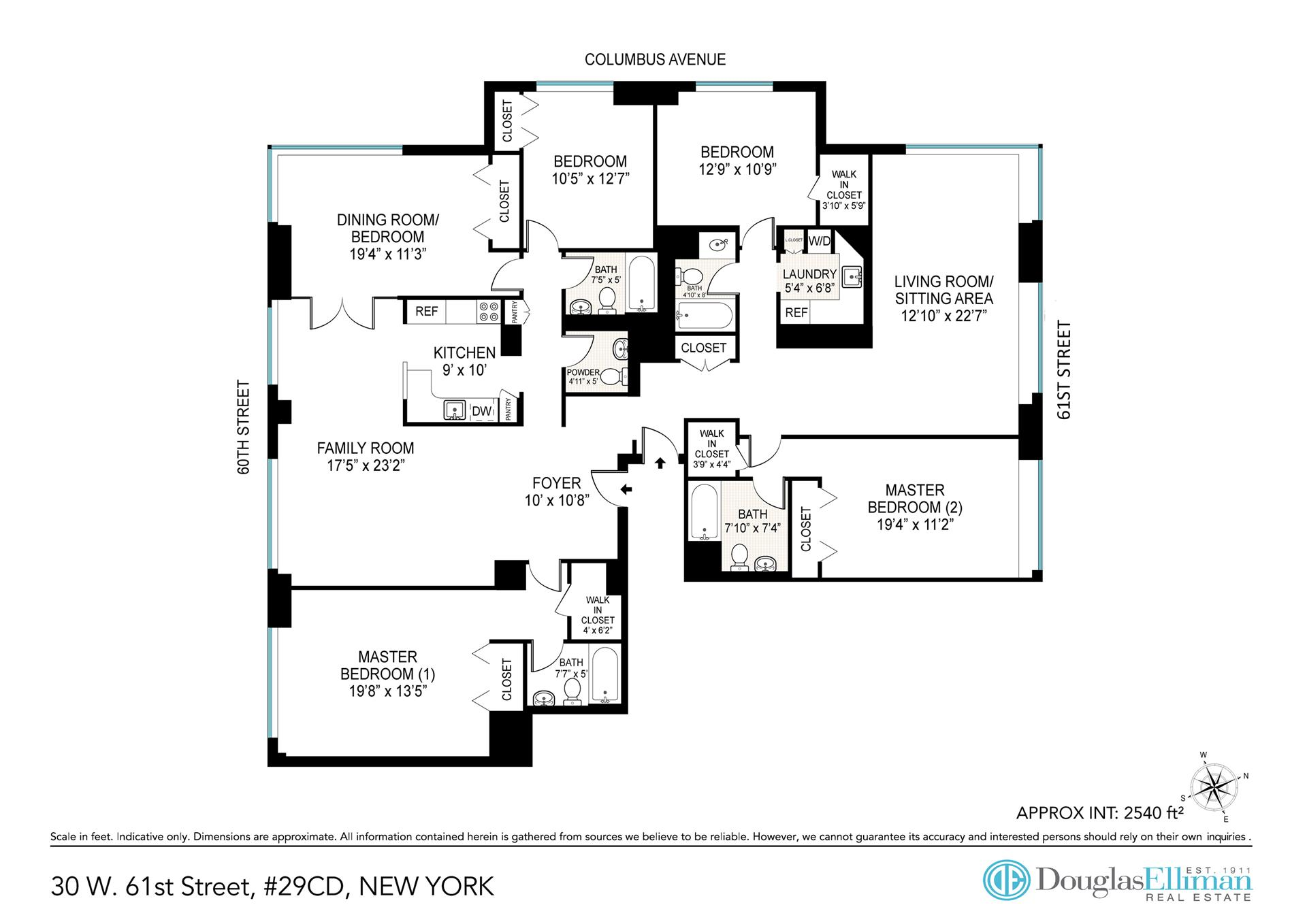 Floor plan of THE BEAUMONT, 30 West 61st St, 29CD - Lincoln Square, New York
