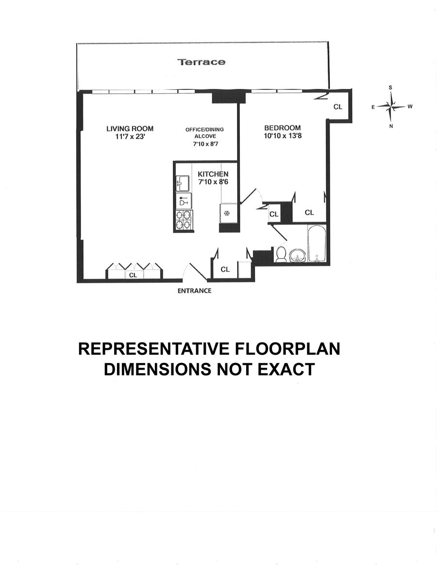 Floor plan of 100 WEST, 100 West 93rd Street, 2K - Upper West Side, New York