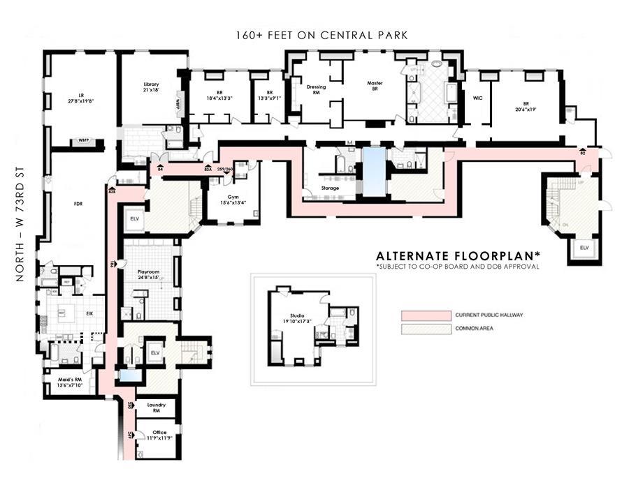 Floor plan of The Dakota, 1 West 72nd St, COMBO - Upper West Side, New York