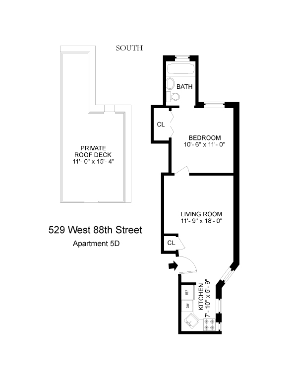 Floor plan of 529 East 88th St, 5D - Upper East Side, New York