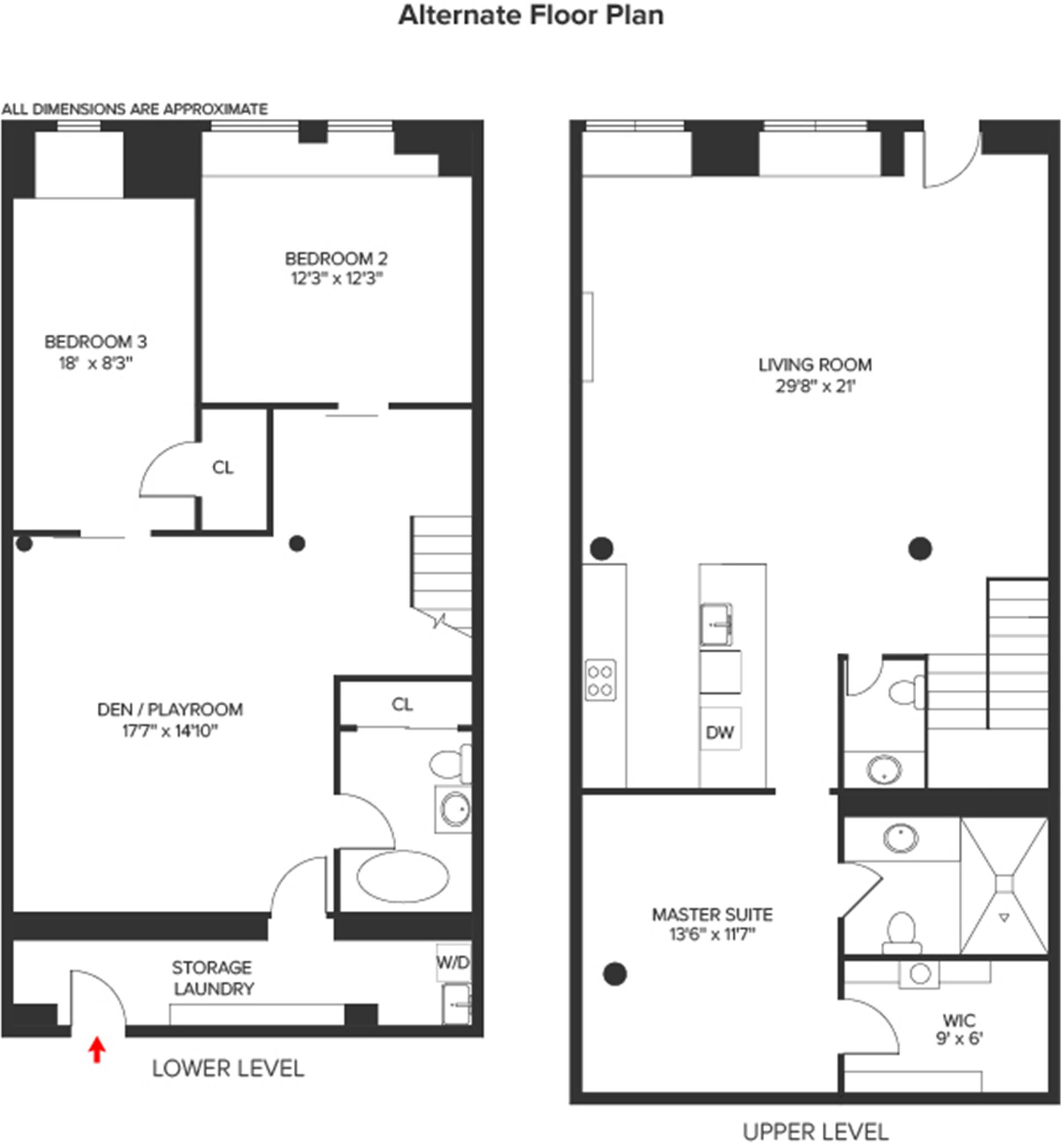 Floor plan of 308 Elizabeth St - NoHo, New York