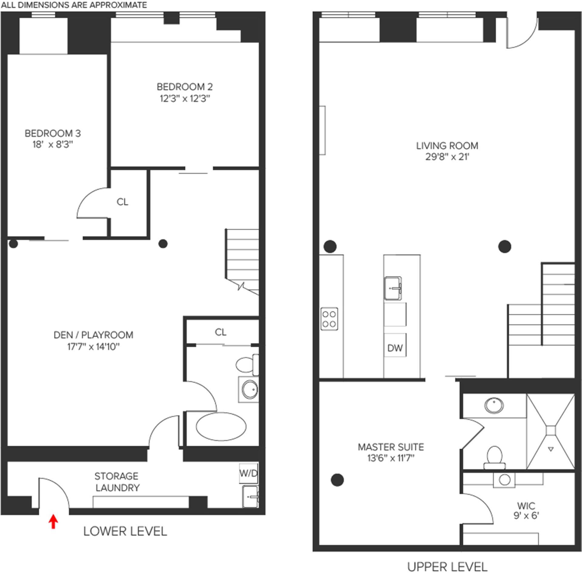 Floor plan of 308 Elizabeth St - NoHo, New York