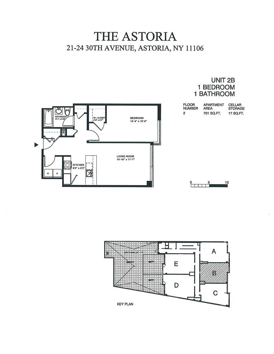 Floor plan of the ASTORIA, 21-24 30th Avenue, 2B - Astoria, New York