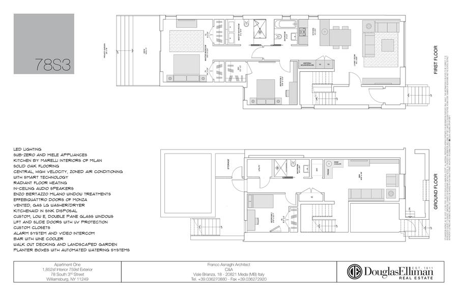 Floor plan of 78 South 3rd Street, 1 - Williamsburg, New York