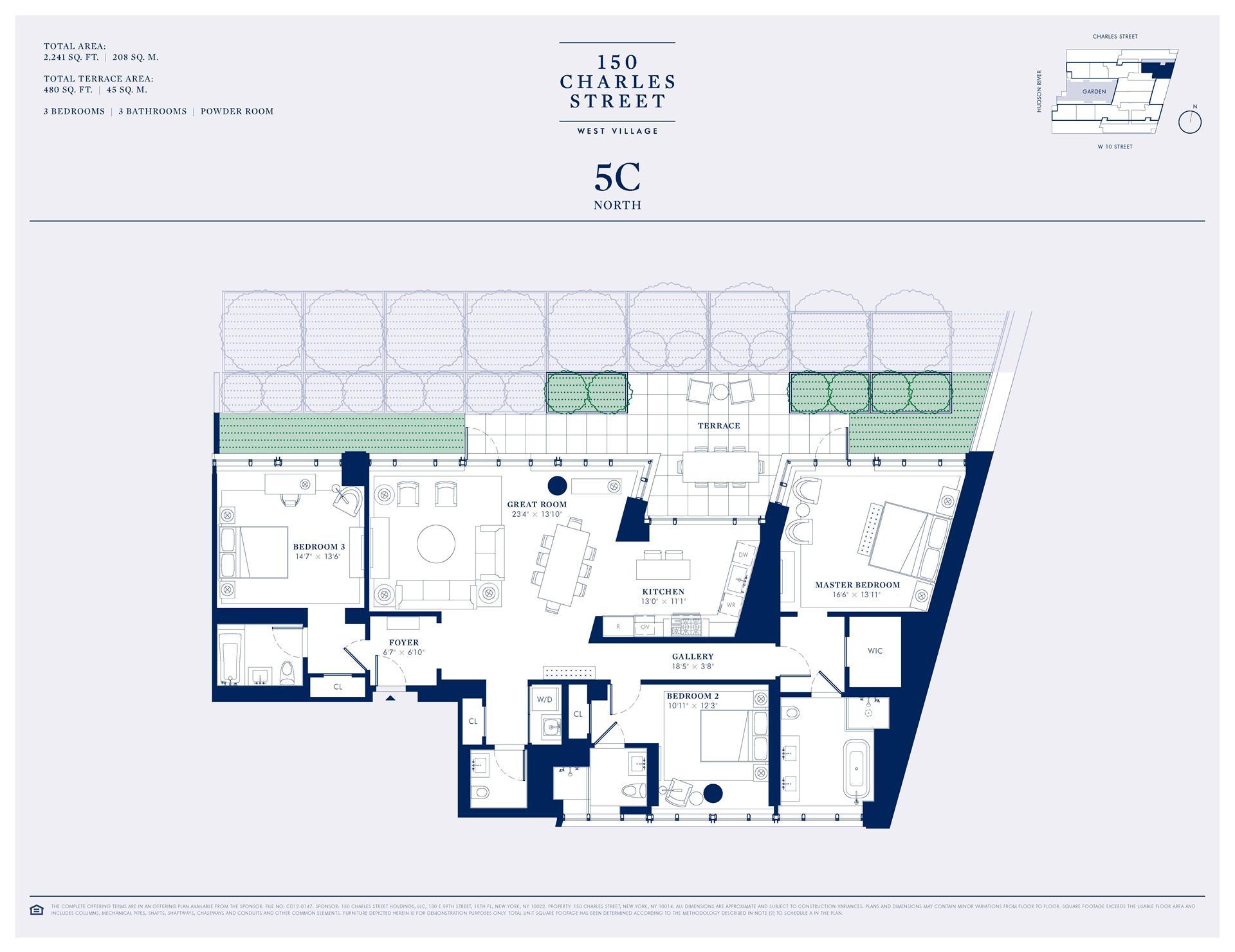 Floor plan of 150 Charles Street, 5CN - West Village - Meatpacking District, New York