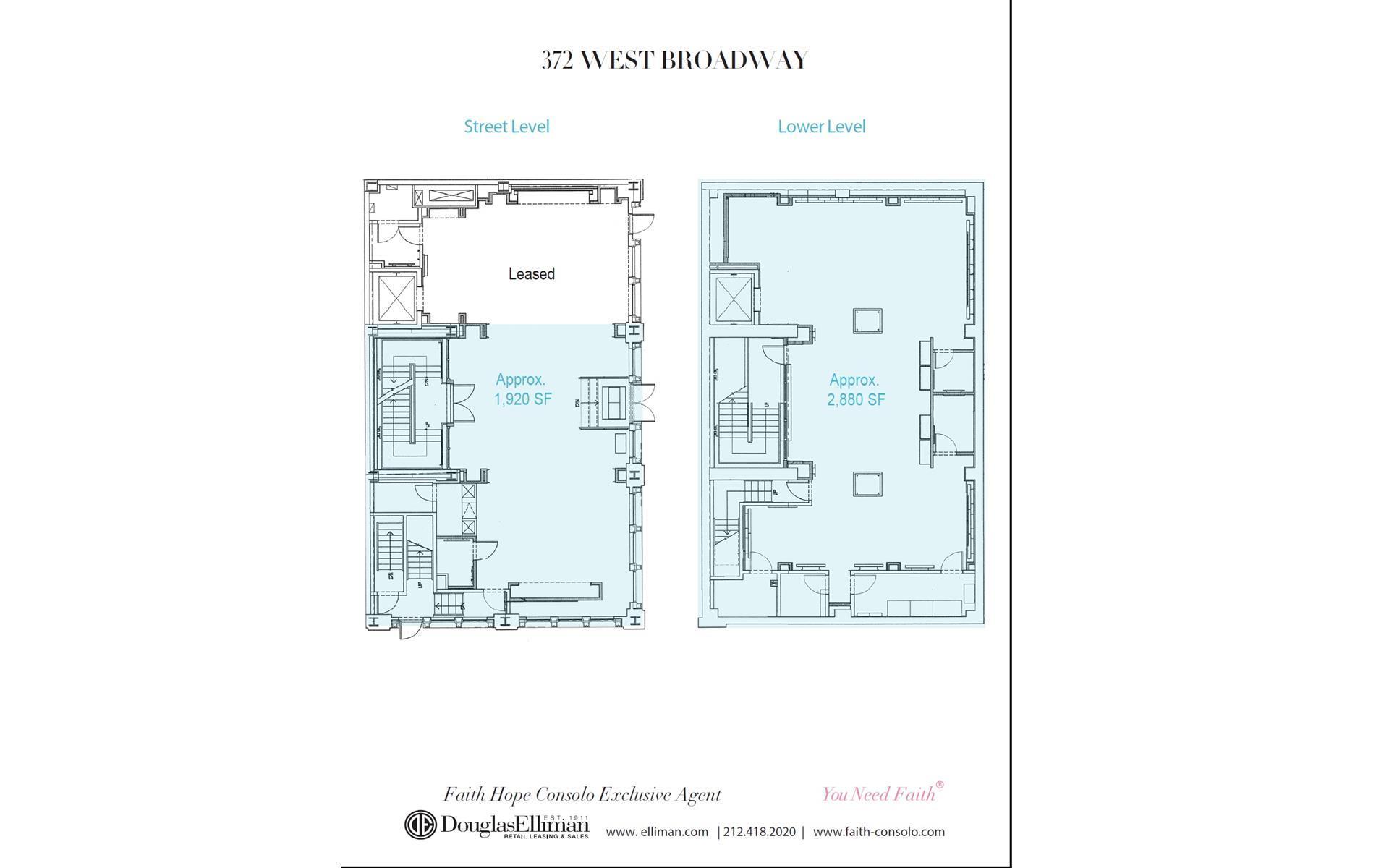 Floor plan of 372 West Broadway, RETAIL - SoHo - Nolita, New York