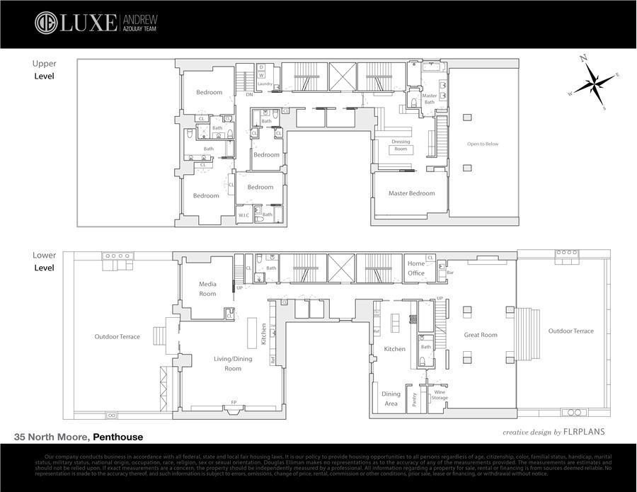 Floor plan of Merchant House, 35 North Moore Street, PHAC - TriBeCa, New York