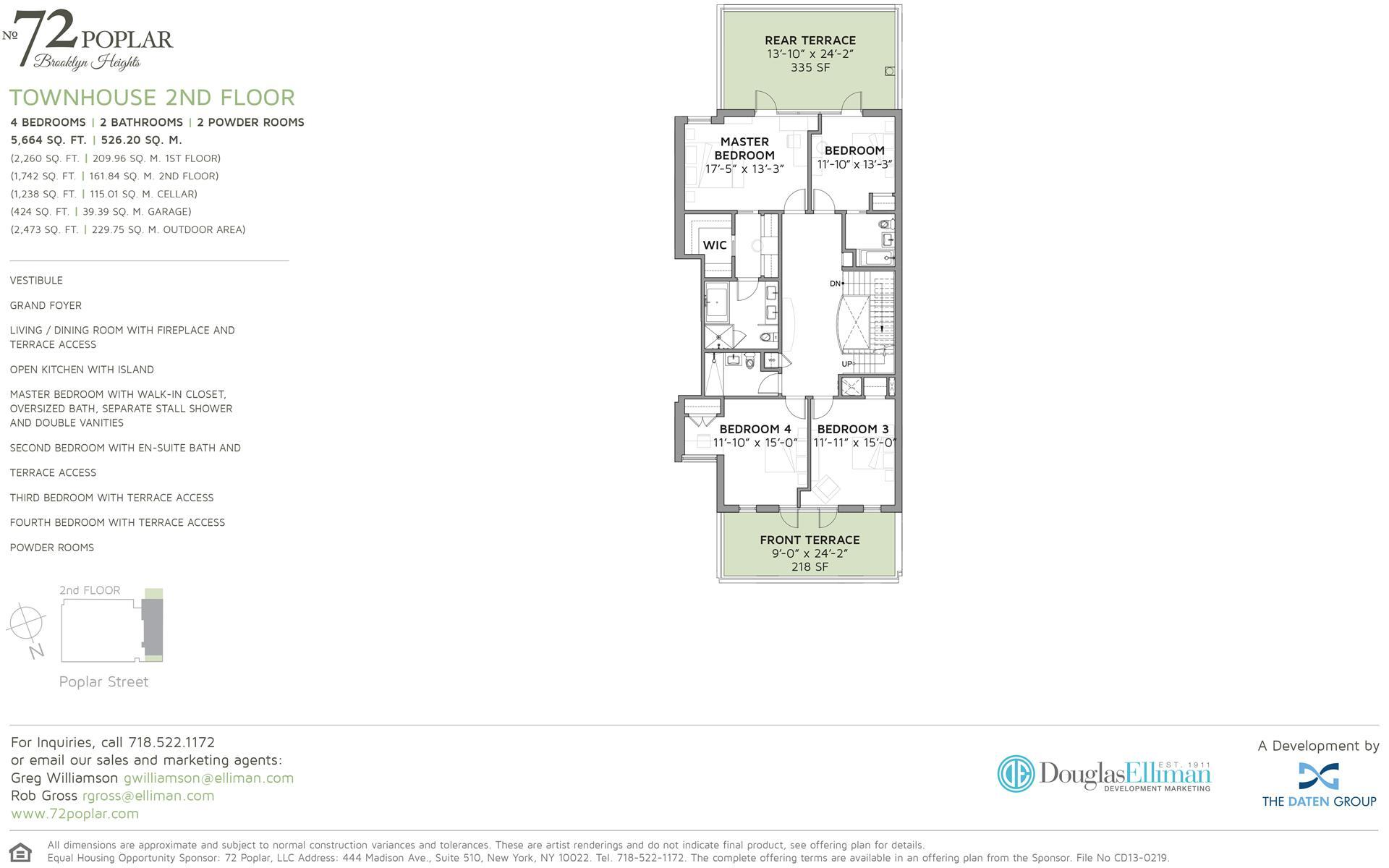 Floor plan of 72 Poplar St - Brooklyn Heights, New York