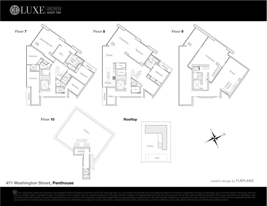 Floor plan of 471 Washington Street, PH - TriBeCa, New York