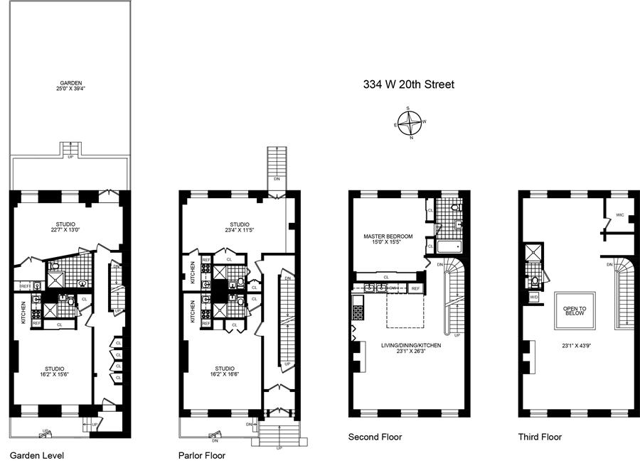 334 w 20th st house chelsea new york realdirect for 111 8th avenue 9th floor new york ny 10011
