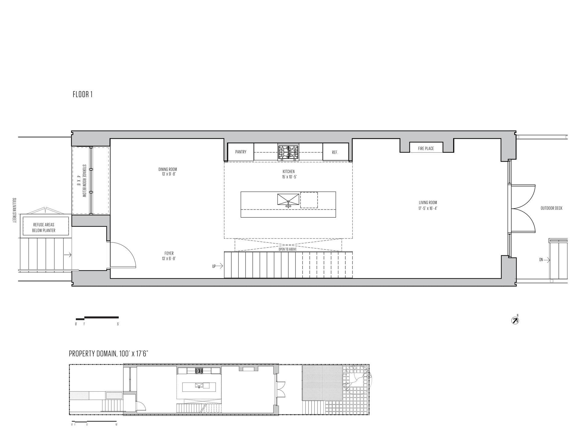 Floor plan of 76A Sullivan St - Red Hook, New York