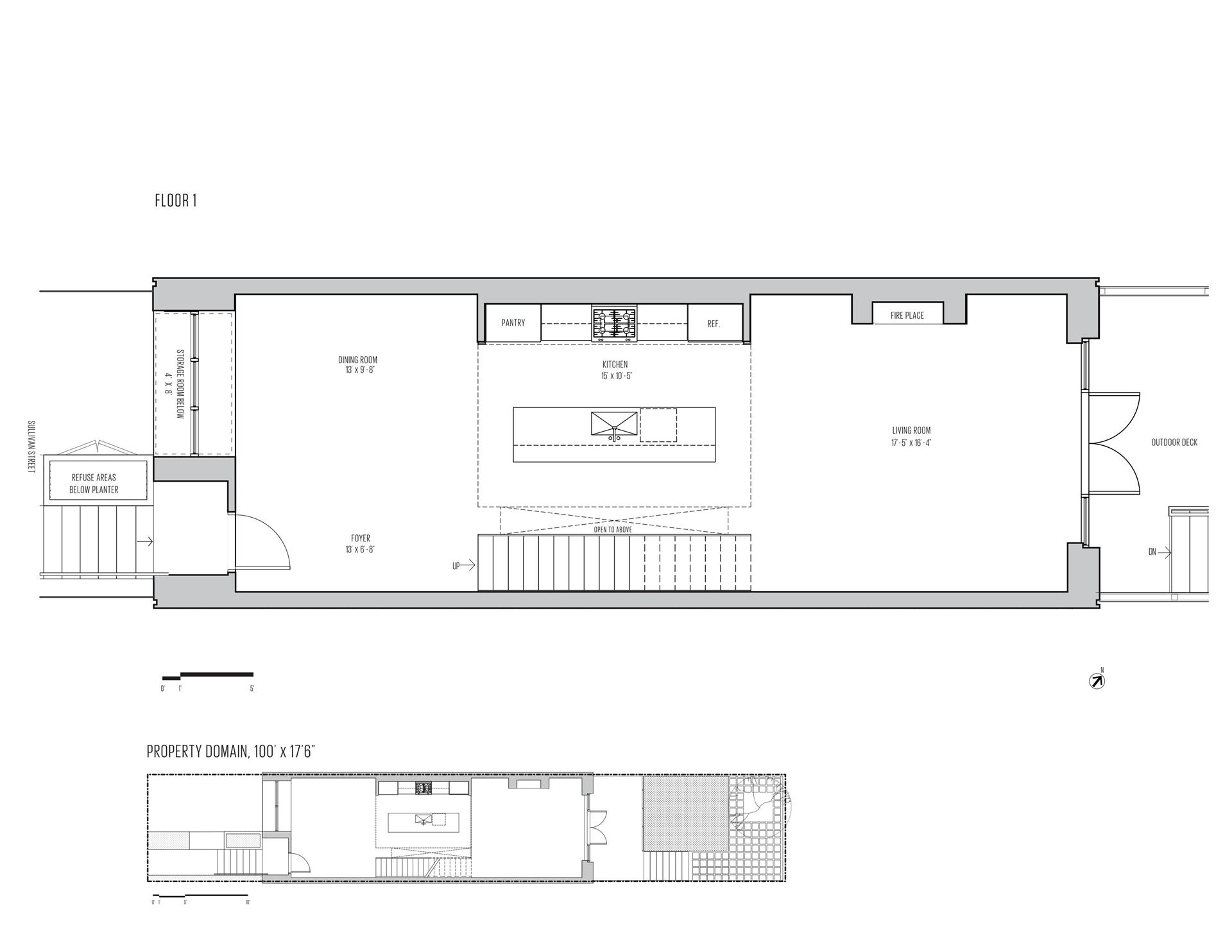 Floor plan of 74A Sullivan St - Red Hook, New York