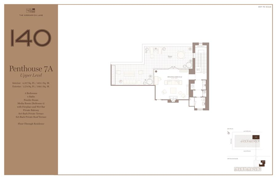 Floor plan of The Greenwich Lane, 140 West 12TH ST, PH7A - Greenwich Village, New York