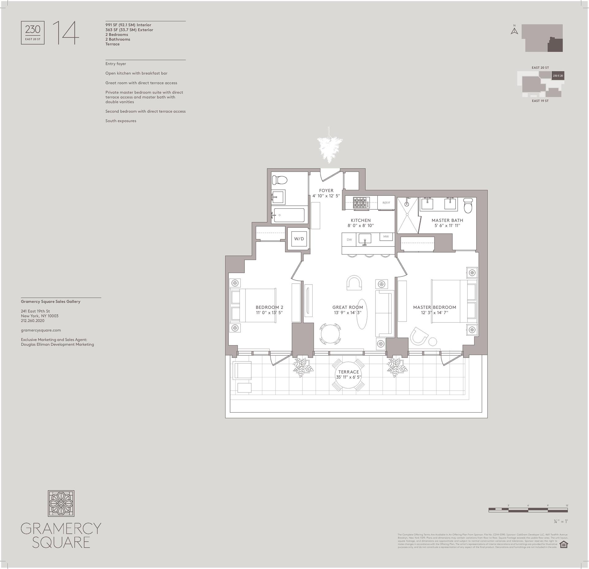 Floor plan of Gramercy Square, 230 East 20th St, 14 - Gramercy - Union Square, New York